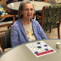 MArta bingo at adult day care