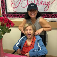 Josie and Rebecca at adult day care