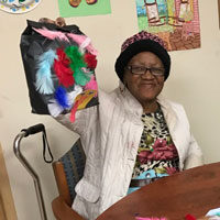 Nelva-Arts-and-Crafts at adult day care