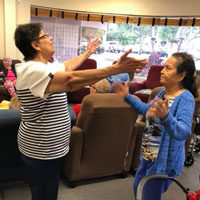 Reina and Ana at adult day care
